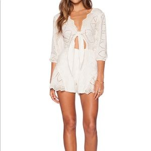 Jen's Pirate Booty Clementine Romper Ivory S